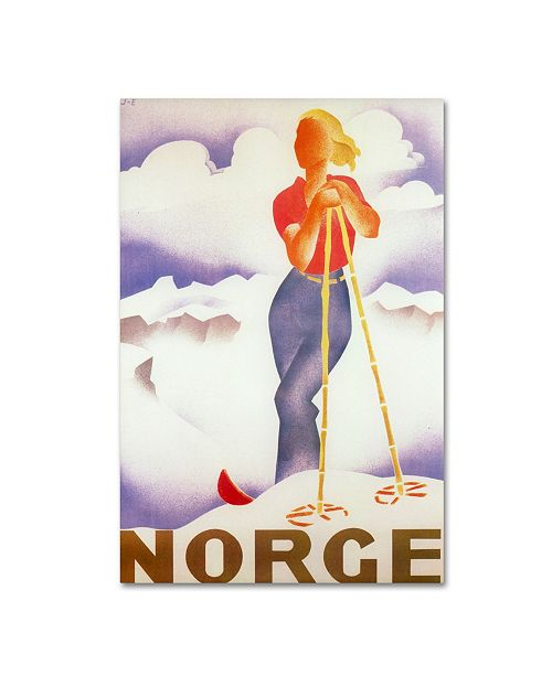 "Trademark Global Vintage Apple Collection 'Norge' Canvas Art - 16"" x 24"""