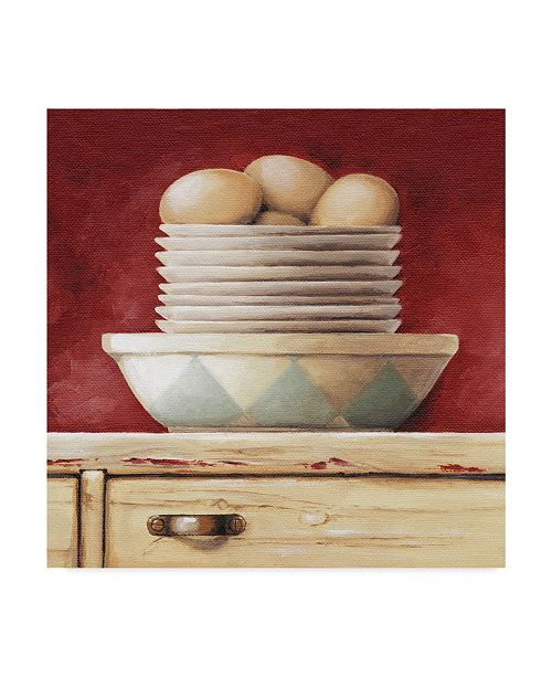 "Trademark Global Lisa Audit 'Eggs and Saucers' Canvas Art - 18"" x 18"""