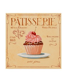 "Fiona Stokes-Gilbert 'Cupcake' Canvas Art - 18"" x 18"""