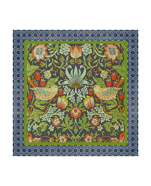 "Trademark Global Jean Plout 'Ornate Bird Tile' Canvas Art - 18"" x 18"""