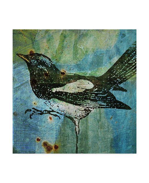 """Trademark Global John W. Golden 'Magpie' Canvas Art - 18"""" x 18"""""""