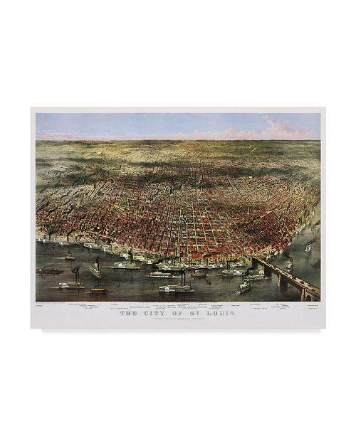 Home Decor Liquidators St Louis: Trademark Global Vintage Lavoie '1874 City Of St. Louis