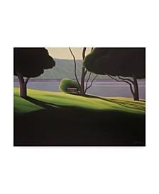"""Ron Parker 'Park Bench' Canvas Art - 18"""" x 24"""""""