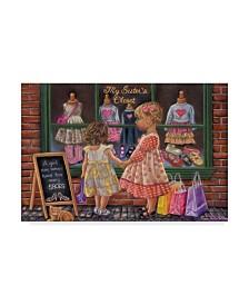 "Tricia Reilly-Matthews 'My Sisters Closet' Canvas Art - 16"" x 24"""