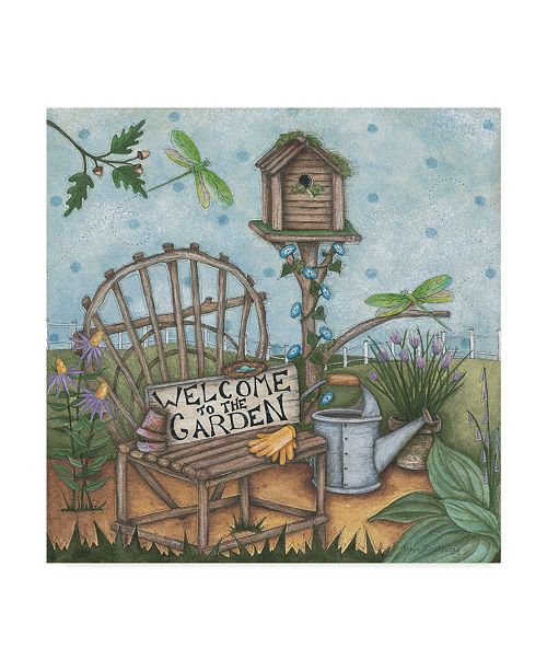 "Trademark Global Robin Betterley 'Welcome To The Garden 2' Canvas Art - 18"" x 18"""