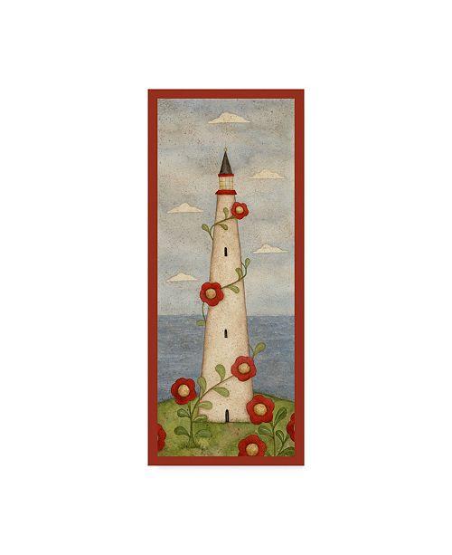 "Trademark Global Robin Betterley 'Red Flower Lighthouse' Canvas Art - 14"" x 32"""