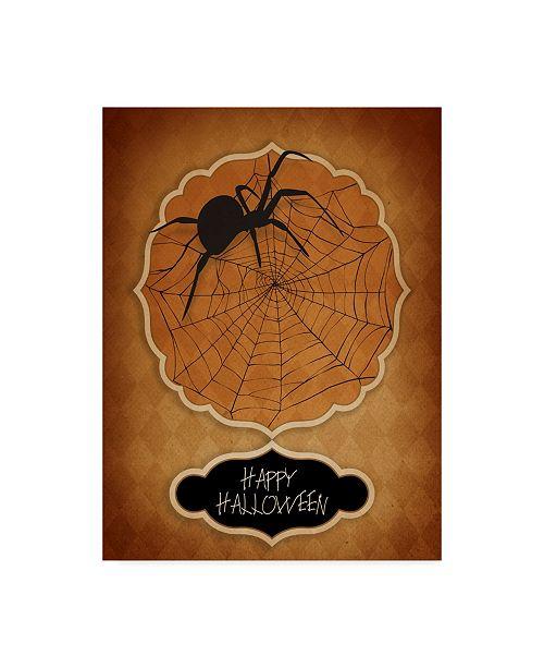 "Trademark Global J Hovenstine Studios 'Halloween Spider' Canvas Art - 24"" x 32"""