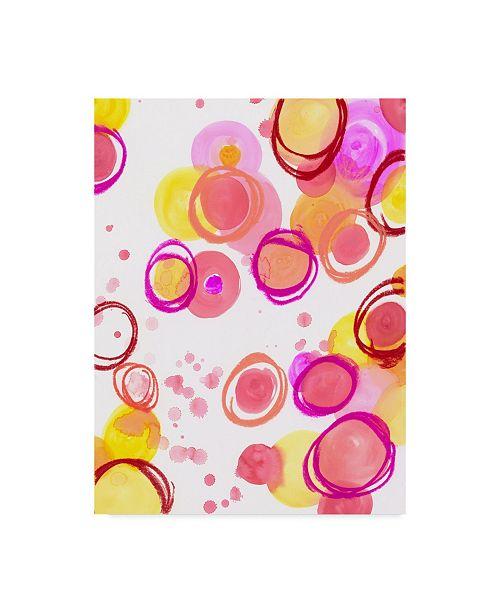 "Trademark Global Jennifer Mccully 'Candy Dots' Canvas Art - 14"" x 19"""