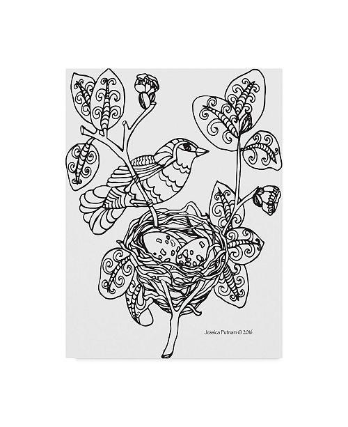 "Trademark Global Jessica Putnam 'Bird 1' Canvas Art - 14"" x 19"""