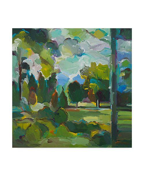 "Trademark Global Hooshang Khorasani 'Valley Of Green' Canvas Art - 14"" x 14"""