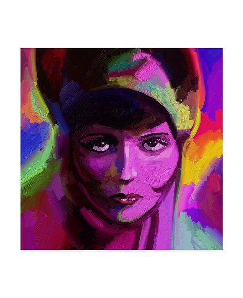 "Trademark Global Howie Green 'Clara Bow' Canvas Art - 14"" x 14"""