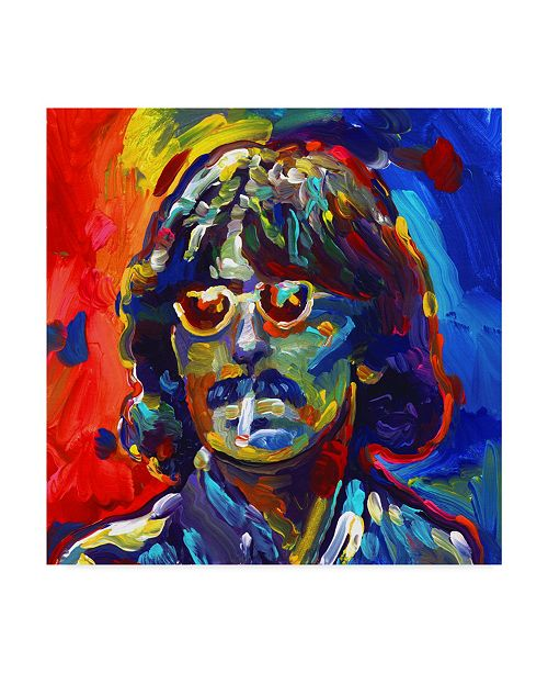 "Trademark Global Howie Green 'George Harrison Glasses' Canvas Art - 18"" x 18"""