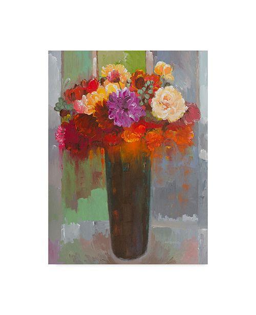 "Trademark Global Hooshang Khorasani 'Touch Of Fuscia' Canvas Art - 14"" x 19"""