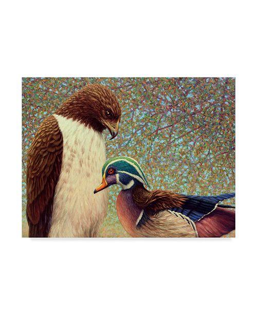 "Trademark Global James W. Johnson 'An Odd Couple' Canvas Art - 24"" x 18"""