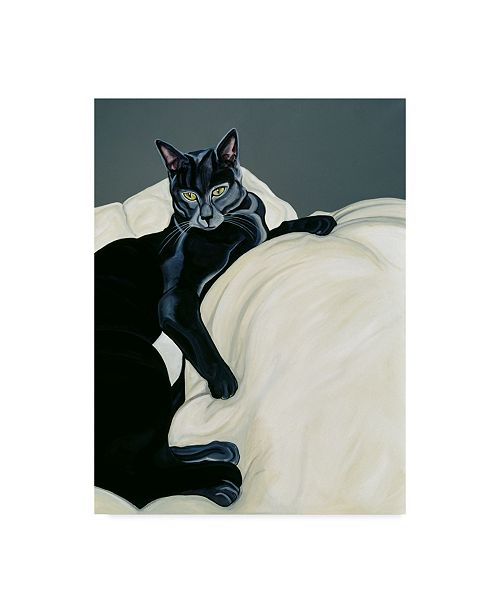 """Trademark Global Jan Panico 'Spot On A Feather Bed' Canvas Art - 18"""" x 24"""""""