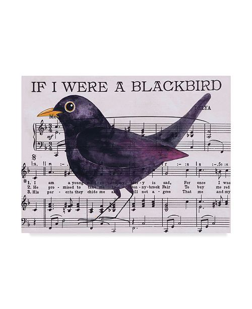 "Trademark Global Jane Wilson 'If I Were A Blackbird' Canvas Art - 19"" x 14"""