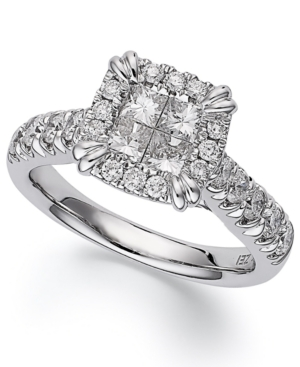 Princess Treasures Princess-Cut Diamond Engagement Ring in 14k White Gold (1-3/4 ct. t.w.)