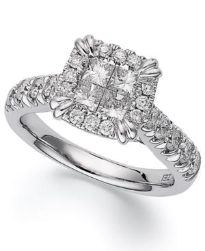 Princess Treasures Princess-Cut Diamond Engagement Ring in 14k White Gold (1-3/4 ct. t.w.)