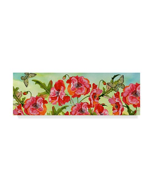 "Trademark Global Jean Plout 'Bouquet De Fleur 1' Canvas Art - 24"" x 8"""