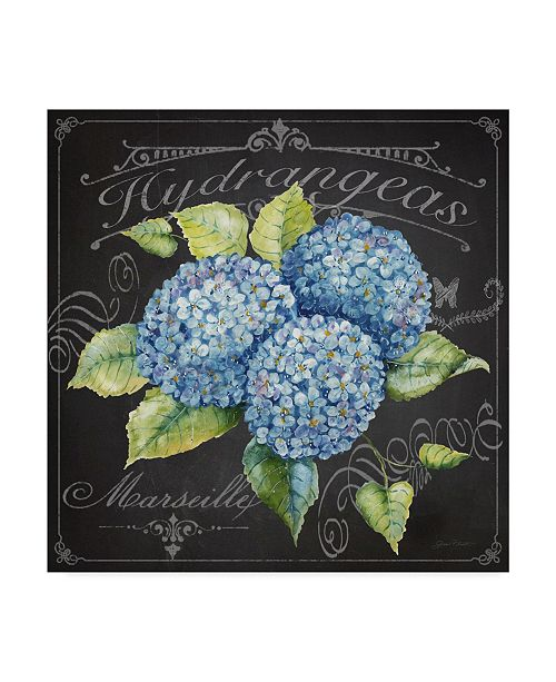 "Trademark Global Jean Plout 'Hydrangeas 3' Canvas Art - 24"" x 24"""