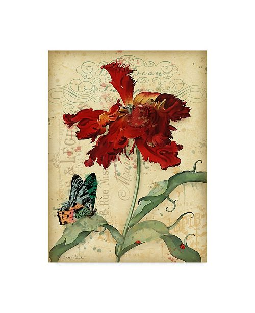 """Trademark Global Jean Plout 'French Florals 1' Canvas Art - 14"""" x 19"""""""