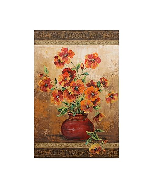 """Trademark Global Jean Plout 'Rustic Red Poppies' Canvas Art - 12"""" x 19"""""""