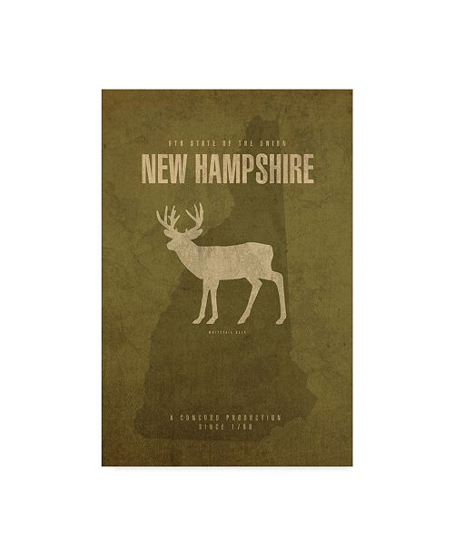 "Trademark Global Red Atlas Designs 'State Animal New Hampshire' Canvas Art - 12"" x 19"""