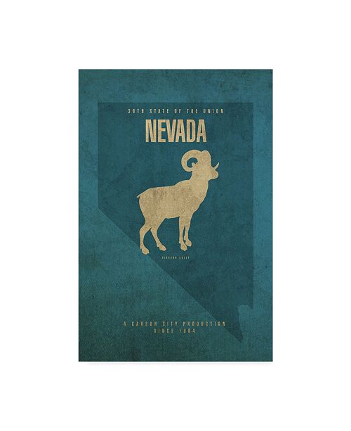 "Trademark Global Red Atlas Designs 'State Animal Nevada' Canvas Art - 16"" x 24"""