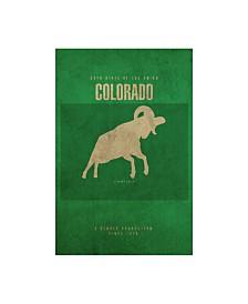 "Red Atlas Designs 'State Animal Colorado' Canvas Art - 12"" x 19"""