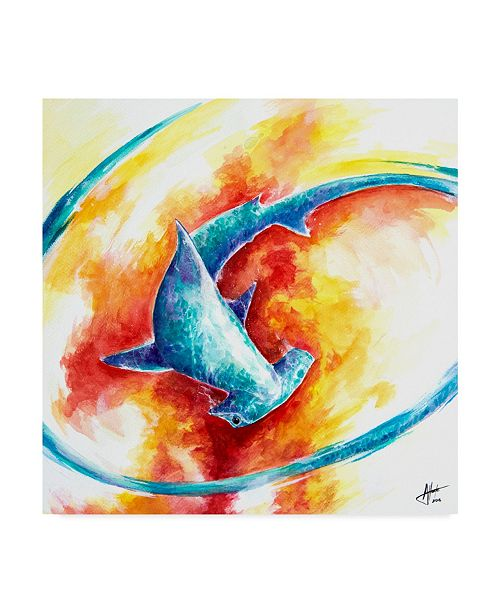 "Trademark Global Marc Allante 'Ember Water Color' Canvas Art - 14"" x 14"""