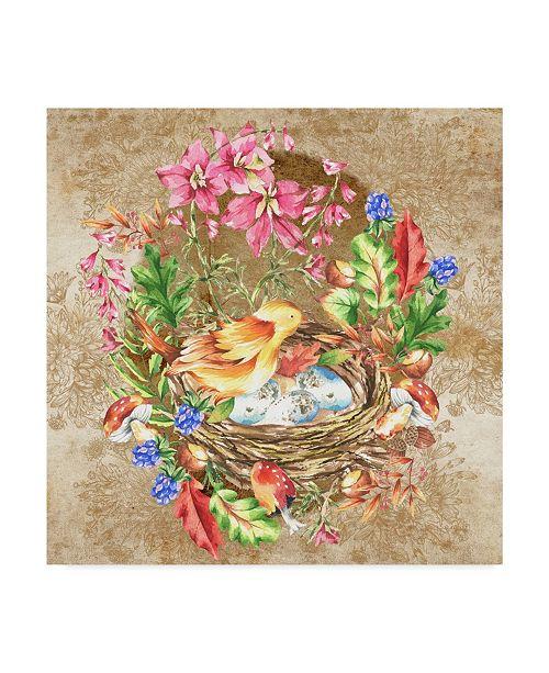 """Trademark Global Lisa Powell Braun 'Birds Nest' Canvas Art - 24"""" x 24"""""""