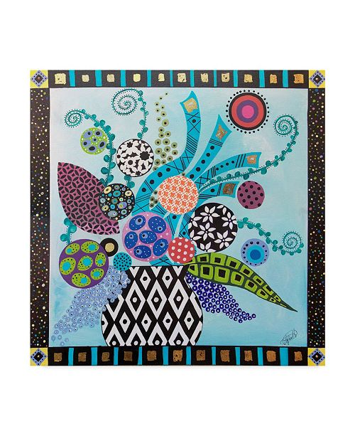 "Trademark Global Lynn Hughes 'Full Bloom In Color' Canvas Art - 14"" x 14"""