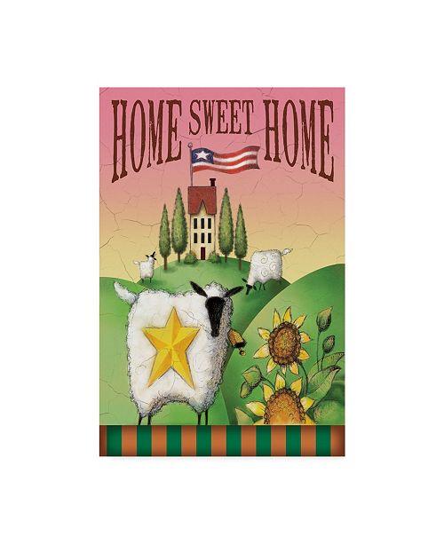 "Trademark Global Margaret Wilson 'Sheep Home Sweet Home' Canvas Art - 22"" x 32"""