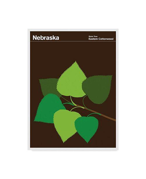 "Trademark Global Print Collection - Artist 'Nebraska Eastern Cottonwood' Canvas Art - 18"" x 24"""