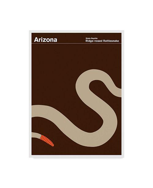 "Trademark Global Print Collection - Artist 'Arizona Rattlesnake' Canvas Art - 14"" x 19"""