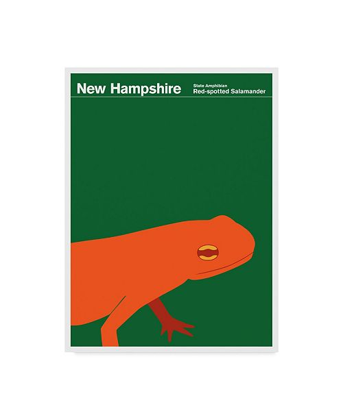"Trademark Global Print Collection - Artist 'New Hampshire Salamander' Canvas Art - 14"" x 19"""