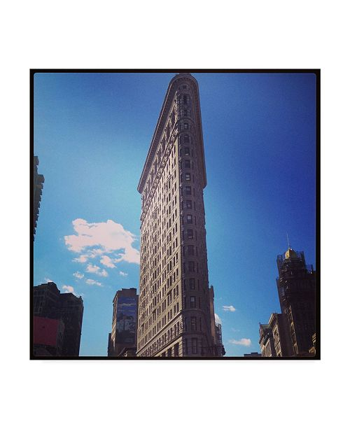 "Trademark Global Nina Marie 'Flat Iron Building New York' Canvas Art - 18"" x 18"""