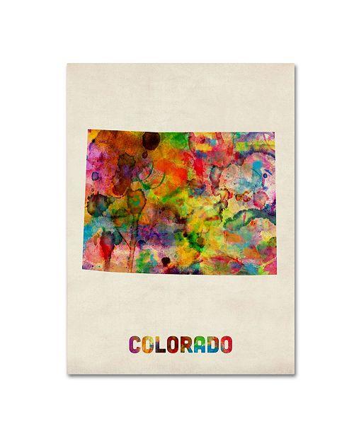 "Trademark Global Michael Tompsett 'Colorado Map' Canvas Art - 19"" x 14"""