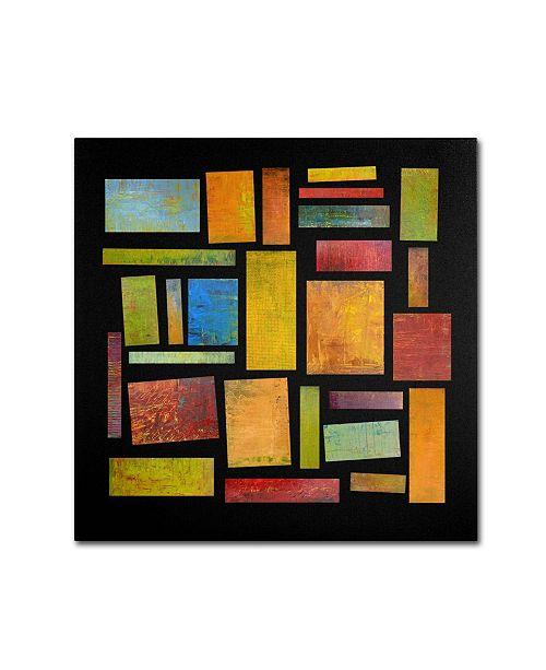 "Trademark Global Michelle Calkins 'Building Blocks Four' Canvas Art - 18"" x 18"""