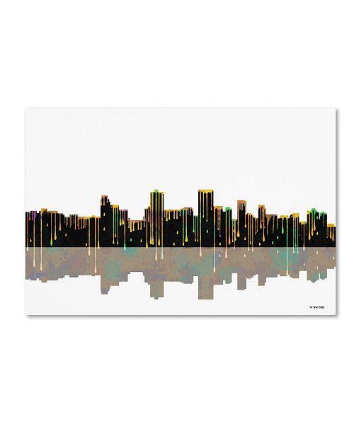 "Trademark Global Marlene Watson 'Anchorage Alaska Skyline II' Canvas Art - 16"" x 24"""