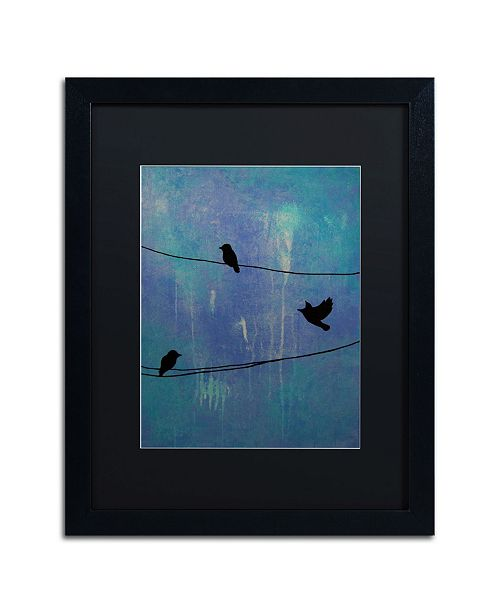 "Trademark Global Nicole Dietz 'Birds Arrival' Matted Framed Art - 16"" x 20"""