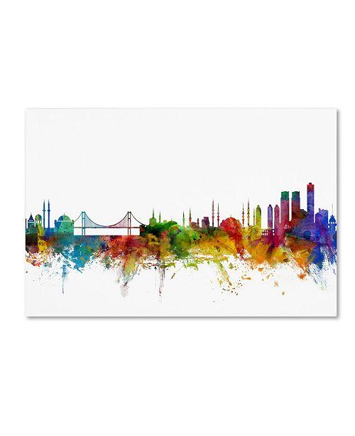 "Trademark Global Michael Tompsett 'Istanbul Turkey Skyline II' Canvas Art - 16"" x 24"""