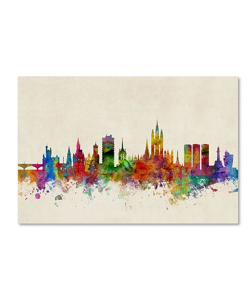 "Trademark Global Michael Tompsett 'Aberdeen Scotland Skyline' Canvas Art - 16"" x 24"""