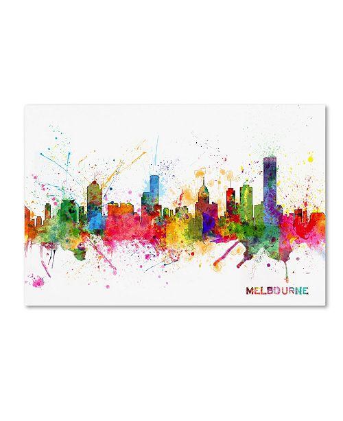 "Trademark Global Michael Tompsett 'Melbourne Skyline' Canvas Art - 16"" x 24"""