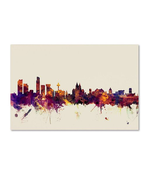 "Trademark Global Michael Tompsett 'Liverpool England Skyline' Canvas Art - 30"" x 47"""