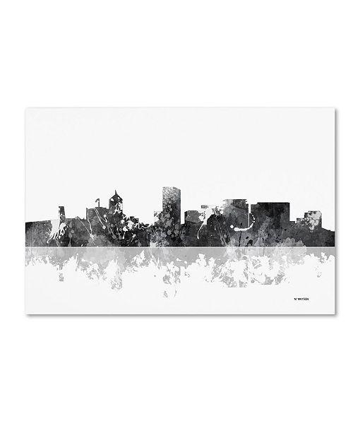 "Trademark Global Marlene Watson 'Portland Oregon Skyline BG-1' Canvas Art - 30"" x 47"""