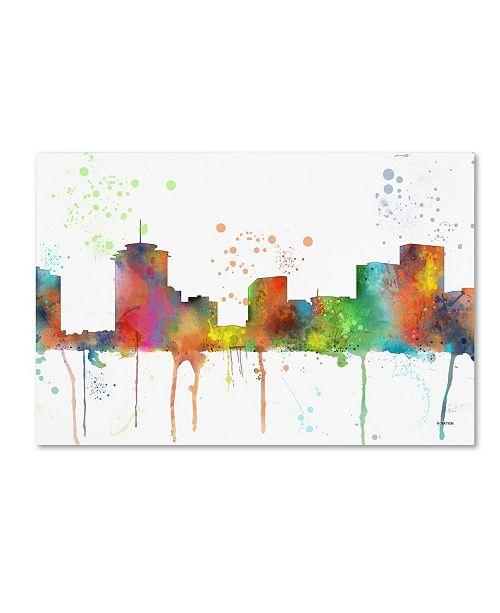 "Trademark Global Marlene Watson 'New Orleans Louisiana Skyline Mclr-1' Canvas Art - 22"" x 32"""