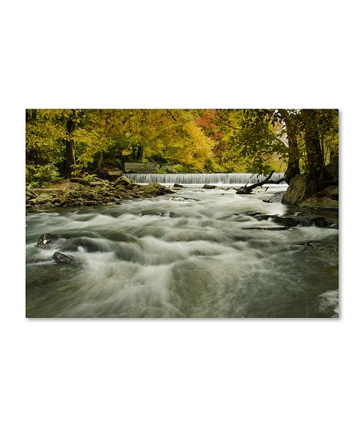 "Trademark Global PIPA Fine Art 'Hoopes Falls in the Autumn' Canvas Art - 22"" x 32"""