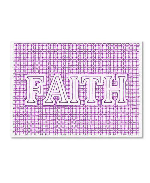 "Trademark Global Viz Art Ink 'Faith' Canvas Art - 24"" x 32"""
