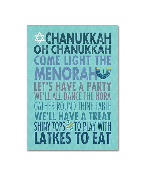 "Trademark Global Stephanie Marrott 'Chanukkah' Canvas Art - 24"" x 32"""
